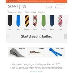 Mobile Commerce - Skinny Ties gets a 211% bump in mobile sales with its responsive design site - Internet Retailer | Responsive design | Scoop.it