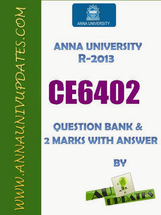 CE6402 Strength of Materials Sm Lecture Notes and Question Bank - 2 mark with answers ~ Anna University Nov Dec 2014 Results- Auupdates | Anna UNiversity Updates | Scoop.it