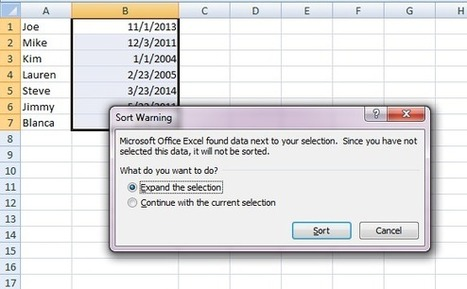 How To Sort Data By Date in Excel | Tips for Managing and Organizing Electronic Documents | Scoop.it