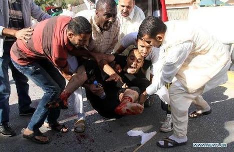 31 killed in attack on anti-militia protesters in Libya capital - Xinhua   Saif al Islam   Scoop.it