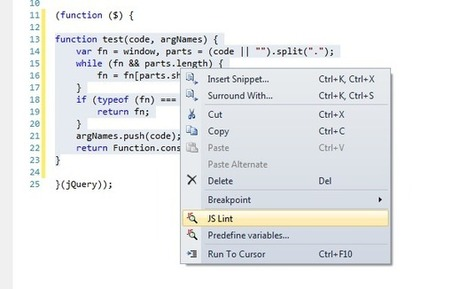 JSLint for Visual Studio 2010 | JavaScript for Line of Business Applications | Scoop.it