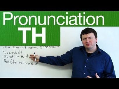 Pronunciation – TH – through, weather, lethal, breath, breathe · engVid   Phonetics and Listening comprehension   Scoop.it