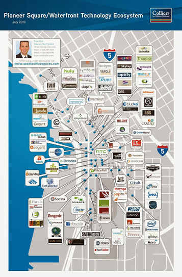 Seattle Office Spaces: Pioneer Square Tech Map | Seattle Commercial Real Estate | Scoop.it