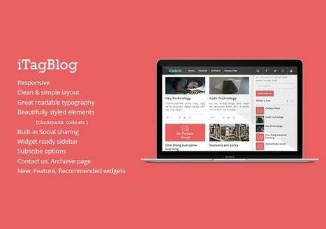 Itagblog Responsive Theme | Best Website Theme & Admin Panel | Scoop.it