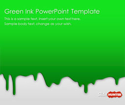 Green Ink PowerPoint Template - SlideHunter.com | presenting | Scoop.it