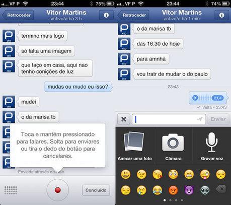 Facebook adiciona voz aos seus clientes móveis de IM | Pplware | Tecnologia e Comunicação | Scoop.it