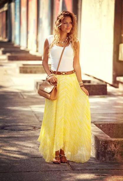 White top with yellow skirt fashion wear   Online Blazers for Men   Scoop.it