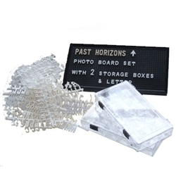 Professional Photo Board Set with 19mm White Characters and Numbers | Archaeology Tools | Scoop.it