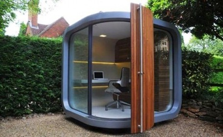Home Architecture Design on Home Office Design In Backyard   Modern       Container Architecture