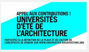 Les Universités d'été de l'architecture se déroulent DÉJÀ sur le web : mettez-y donc votre grain de sel ! - Localtis.info un service Caisse des Dépôts | URBANmedias | Scoop.it