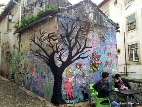 Street art, Baixa, Coimbra, mosaics and drawing - Julie Dawn Fox in Portugal | Design | Scoop.it