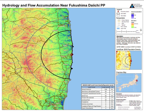 Hydrology and Flow Accumulation Near Fukushima Daiichi PP | Digital-News on Scoop.it today | Scoop.it