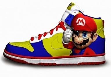 Nike Rainbow: Colorful Dunks Super Mario High Tops Cartoon Nikes Tennis Shoes   Comic Nike Dunks   Scoop.it