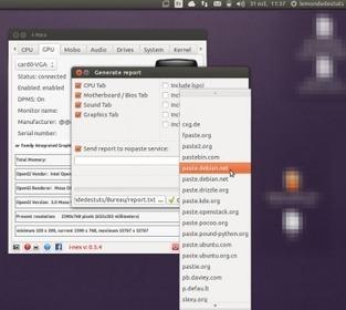 I-Nex 0.5.4 faites un diagnostic de votre système et matériel sous Ubuntu et dérivés | tutoriel,astuce,tech, geek....... | Scoop.it