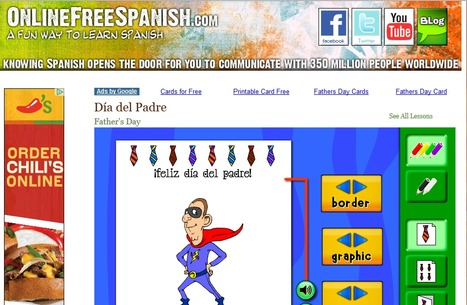 OnlineFreeSpanish.com - Tarjetas del Día del Padre - Father's Day Cards   Spanish galore   Scoop.it