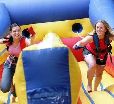 Twin Lane Bungee Run - Inflatables - Bouncy Castle Hire in Nationwide from our base in Kent.   Bouncy Castle   Scoop.it