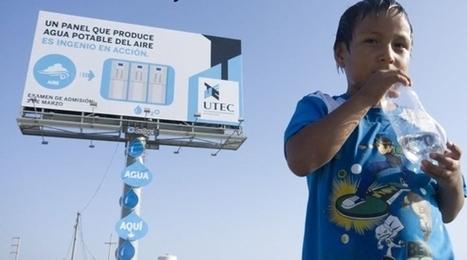 Un panneau publicitaire qui produit de l'eau potable à partir de l'air - Geeks and Com' | DD calé. | Scoop.it