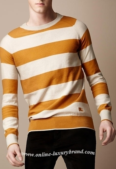 Burberry Men Cashmere Cotton Striped Sweater Orange [B005985] - $149.00 : Burberry Outlet Stores,Burberry Outlet Online,Cheap Burberry For Sale | Burberry Oultet | Scoop.it
