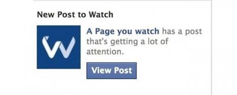 Facebook ahora notifica a los administradores de páginas de publicaciones destacadas de otras páginas | Marketing online | Scoop.it