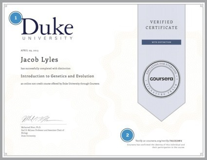 The Anatomy of a Verified Certificate & Shareable Course Records | Learning is working and working is learning | Scoop.it