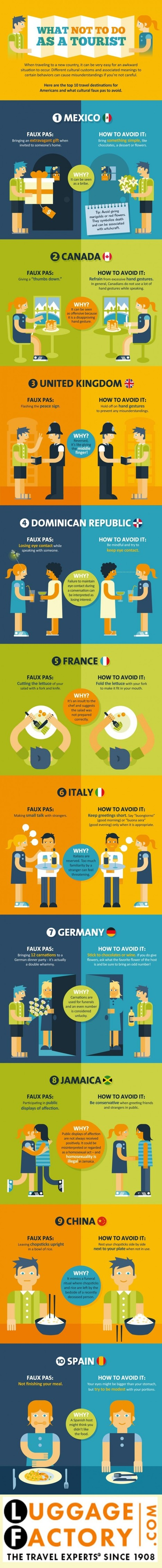 What Not To Do As A Tourist [Infographic] | Transformations in Business & Tourism | Scoop.it