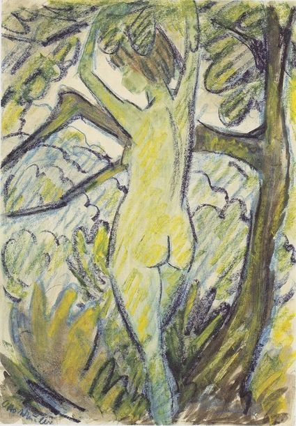 Otto Mueller (1874-1930) - stehender Akt in Baum  | offene Ablage: nothing to hide | oAnth-miscellaneous | Scoop.it