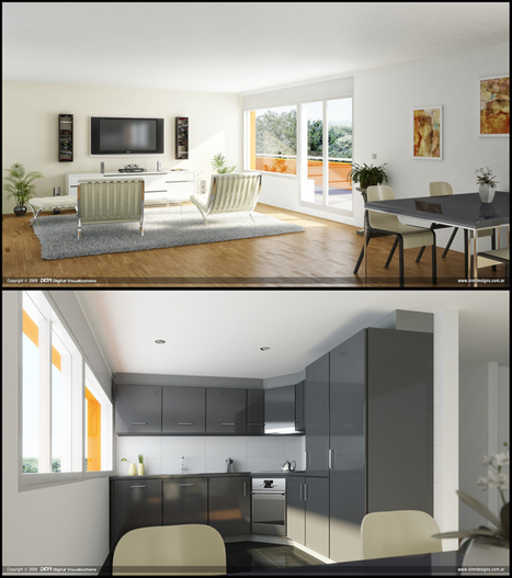 50 Amazing Interior Designs created in 3D Max and Photoshop - OurTuts.com | What Surrounds You | Scoop.it