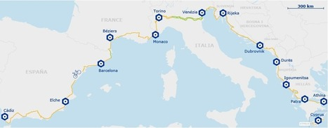 EuroVelo 8 - Mediterranean Route | Bici reclinada - Recumbent bike - Vélo couché | Scoop.it