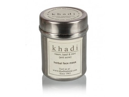 Buy Khadi Neem,Basil & Mint Anti-acne Face Mask Online | Organic Health Food Products and Natural Beauty Products | Scoop.it