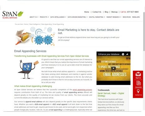 Buy Email Appending Services from Span Global Services | Span Global Services | Scoop.it