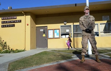 Another Marine veteran of Iraq war guards Calif. school | Littlebytesnews Current Events | Scoop.it