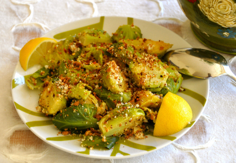 Brussels Sprouts with Lemon, Garlic & Toasted Bread Crumbs | My Vegan recipes | Scoop.it