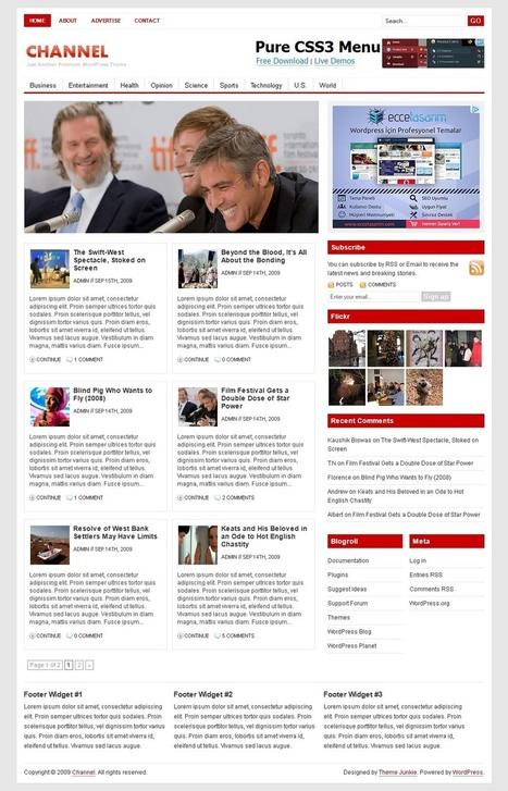 75+ Free Responsive WordPress Themes | WPRazzi | Wordpress templates | Scoop.it