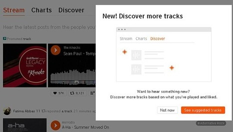 SoundCloud boosts discovery tools with Suggested Tracks | A Kind Of Music Story | Scoop.it