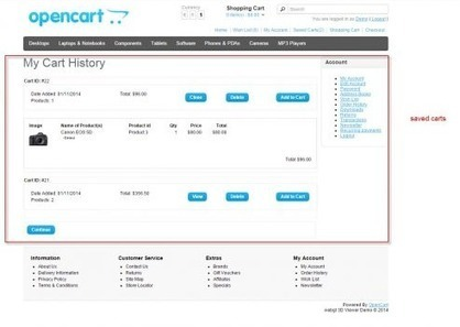 """Why you should have """"Save Basket"""" options on all e-commerce sites   OpenCart Development Design and Modules   Scoop.it"""