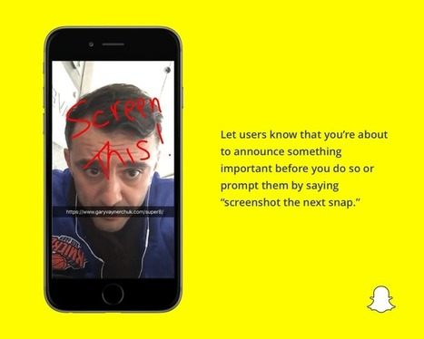 5 Top Snapchat Tips for Marketers | New Media & Communication | Scoop.it