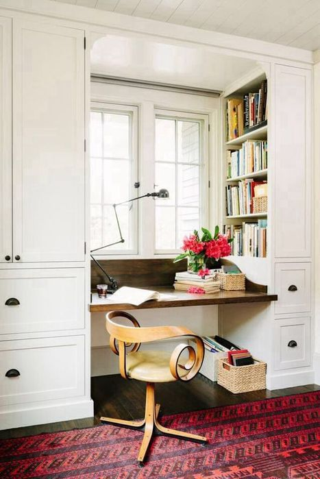 38 Desk Designs for Small Spaces | Decorating Ideas | Decorating Ideas | Scoop.it