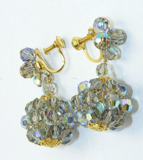 Aurora borealis chandelier ear rings - AntiquesAvenue, A passion for vintage jewellery | Sarees kurtis Jewellery | Scoop.it