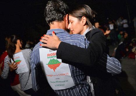 Manifestantes bailan tango para salvar a pueblo de Rumania | Noticias del Maestro en Internet | Scoop.it