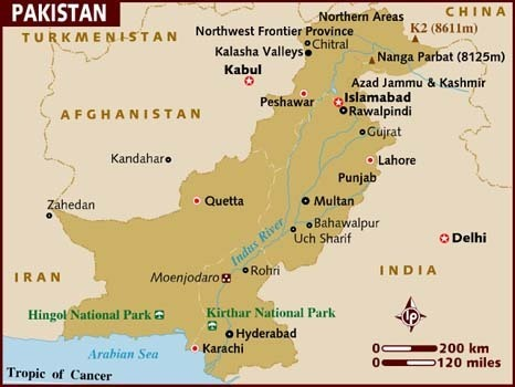Map of Pakistan | The Reluctant Fundamentalist Pakistan | Scoop.it