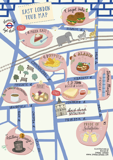 A Food Tour Map for East London | The Mapping London Blog | Geomatics, GIS and the beauty of maps | Scoop.it
