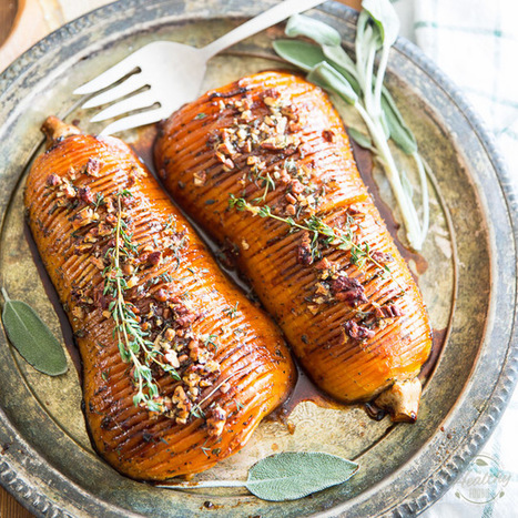 Honey Glazed Hasselback Butternut Squash • The Healthy Foodie | Passion for Cooking | Scoop.it