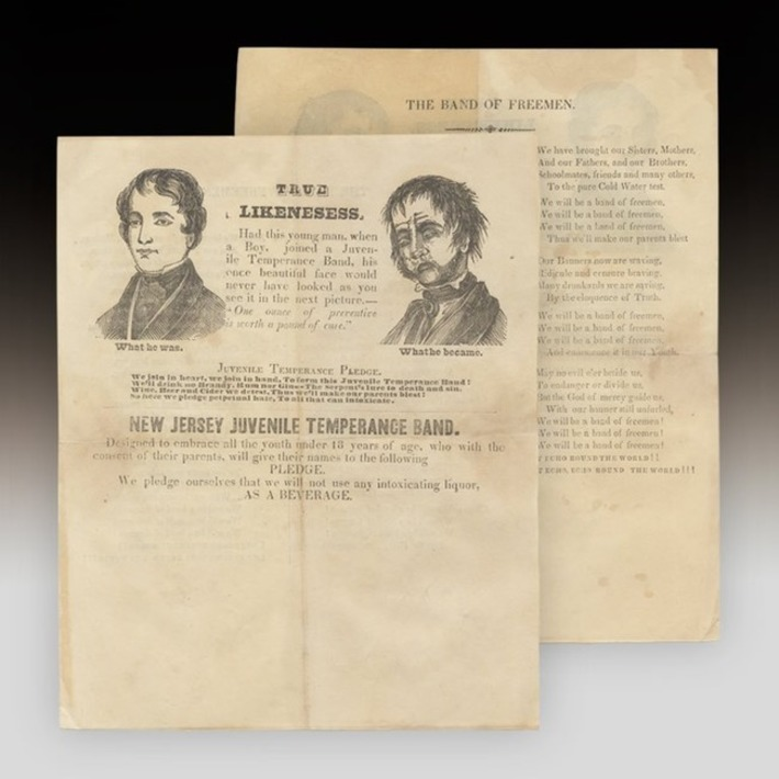 An 1840s Broadsheet for the New Jersey Juvenile Temperance Band | Cultural History | Scoop.it