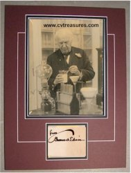 Thomas Edison signed photo (1900s)   Classic Hollywood   Scoop.it