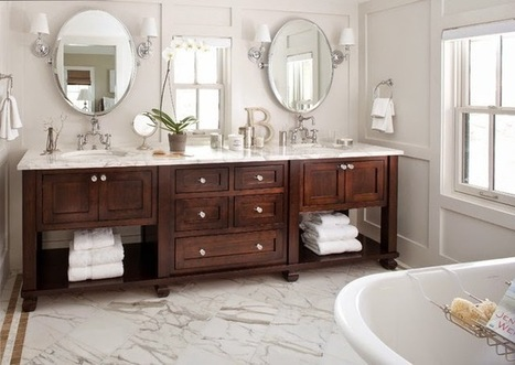 How to Save Space with Small Bathroom Vanities | Kay Stone Australia | Scoop.it