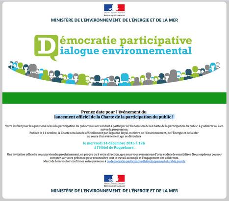 La charte de la participation du public est lancée – Droit – Environnement-magazine.fr | actions de concertation citoyenne | Scoop.it