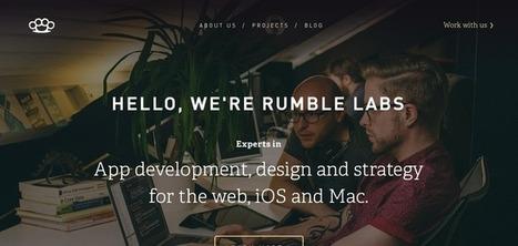 Rumble Labs Website Has a Great Web Design   Web design   Scoop.it