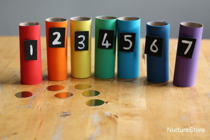 Rainbow themed math activities - NurtureStore | Learn through Play - pre-K | Scoop.it