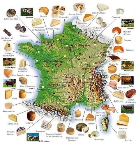 Carte des fromages de France | Revue de Web par ClC | Scoop.it
