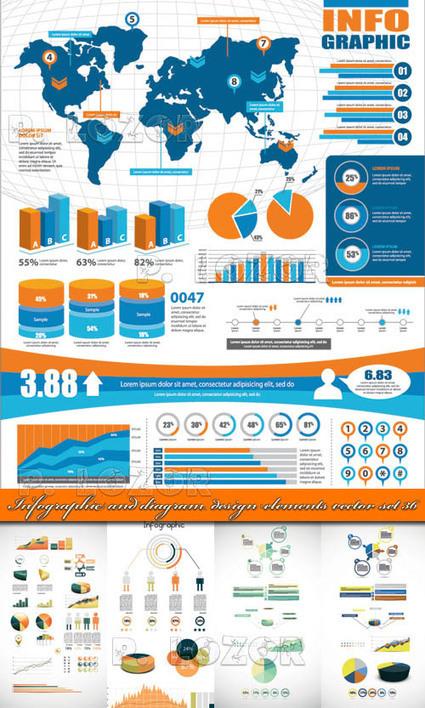 Infographic diagram design elements vector set 1 ~ Beautiful ... | Infographics Collection | Scoop.it